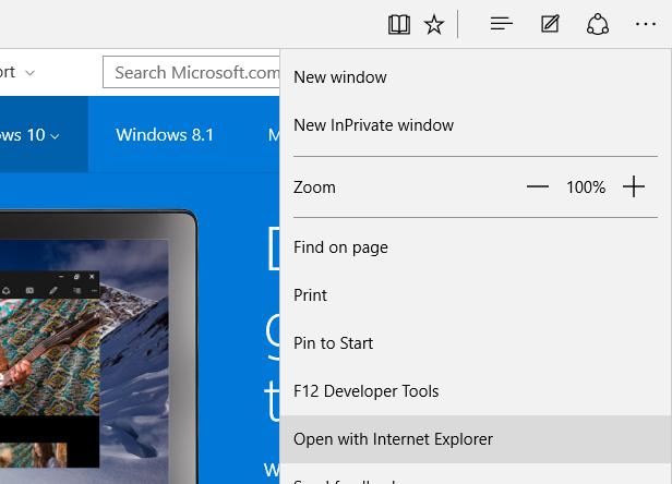 Open In Internet Explorer