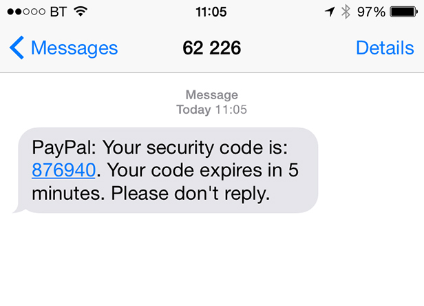 PayPal SMS
