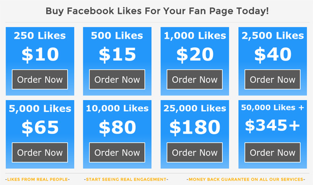 Buying fake Facebook likes