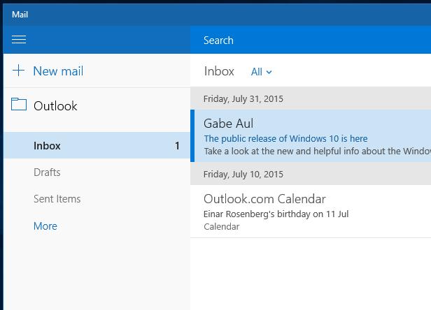 manually  windows 10 mail