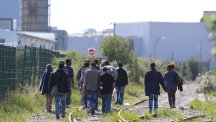 Migrants in Calais hope to cross the Channel