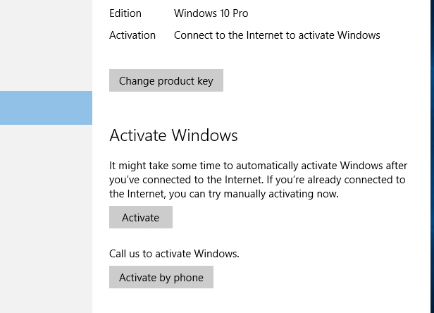 11. Confirm that Windows 10 has activated