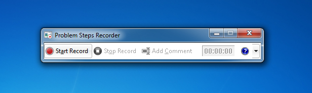 Windows 7 Problem Steps Recorder
