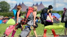 19 emotional stages of walking from the coach to camp at Glastonbury