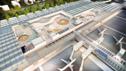 An artist's impression of how Manchester Airport will look following its billion-pound transformation programme