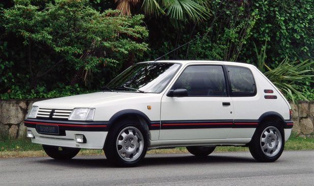 Peugeot 205 in white