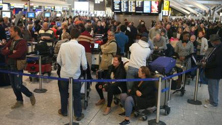 26% of flights to UK airports face delays