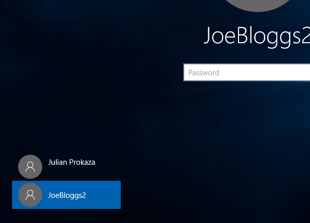 2. Log into the new account