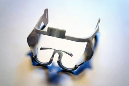 3D print, diagnostic glasses for child dyslexia Adam Rehak, Prague
