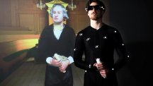 University of Hull drama student Adan Osborne provides the actions and voice to create a virtual William Wilberforce (Sean Spencer/University of Hull/PA)