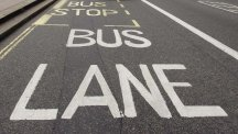 Bus lanes only operate during certain periods