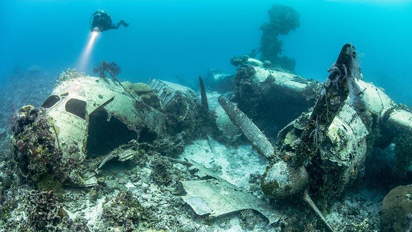 Haunting photographs reveal WW2's largest sub-aquatic