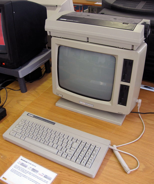 1985: Amstrad PCW, Image credit: Wikimedia Commons