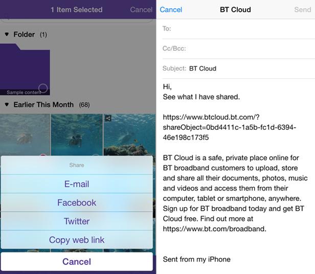BT Cloud app photo upload 3