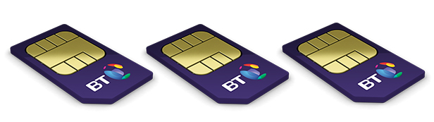 Three BT Sim cards