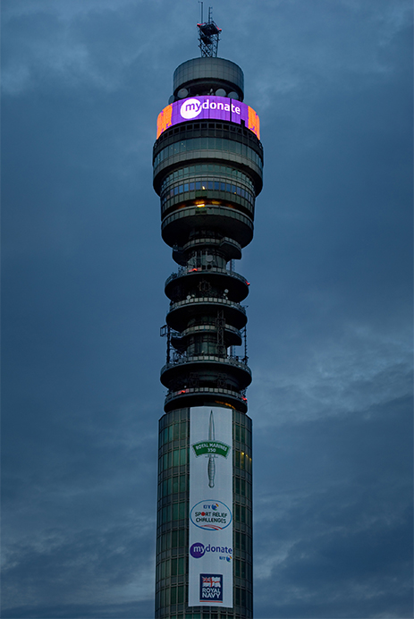 BT Tower at dusk