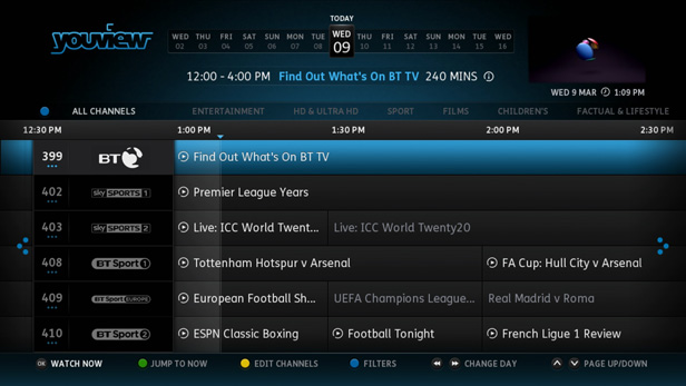 BT TV EPG