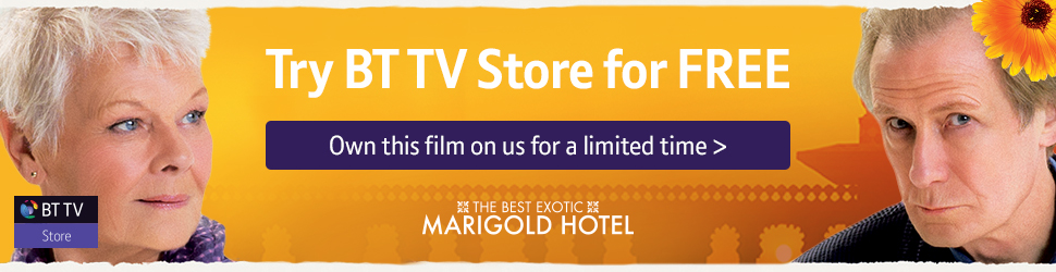 Relish The Best Exotic Marigold Hotel on the house in BT TV Store