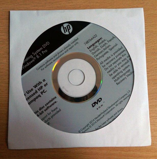 Windows restore disc
