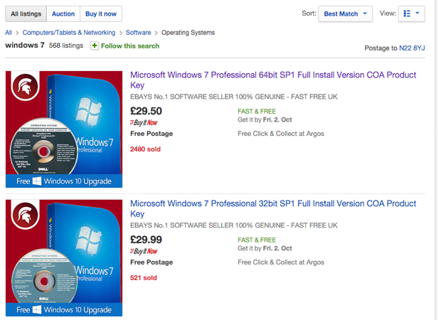 windows 7 to buy