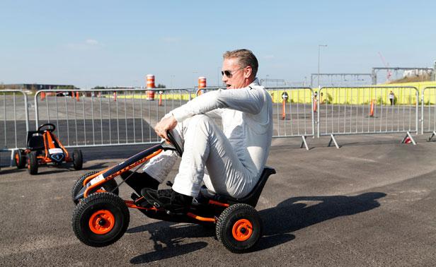 Coulthard go kart