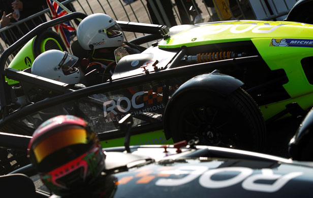 David Coulthard and press driver in Ariel Atom