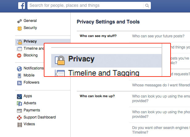 Facebook privacy 2014 2