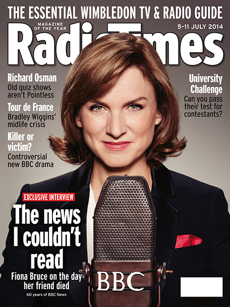 Fiona Bruce on Radio Times cover
