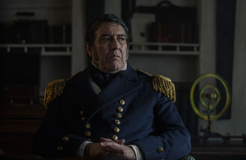 Ciaran Hinds as Sir John Franklin in AMC's The Terror.  Photo credit: AMC
