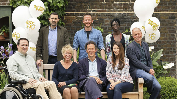 Gardeners world presenters through the years bt for Gardening programmes on tv