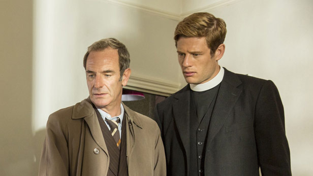 Grantchester on ITV - Robson Green and James Norton