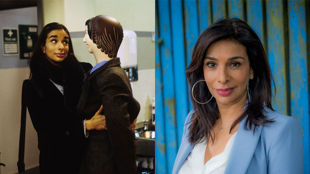 Shobna Gulati. Right-hand photo credit: BBC