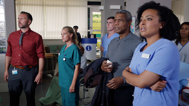 Still from Holby City.  Photo credit: BBC
