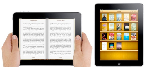 Tablet used as eBook reader