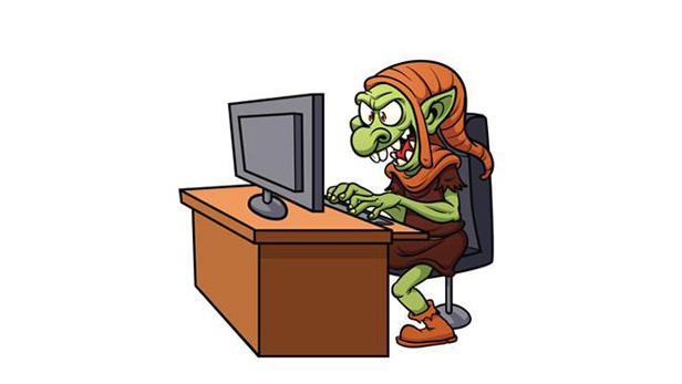 Troll at desk