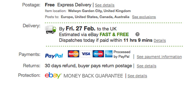 eBay Fast and Free