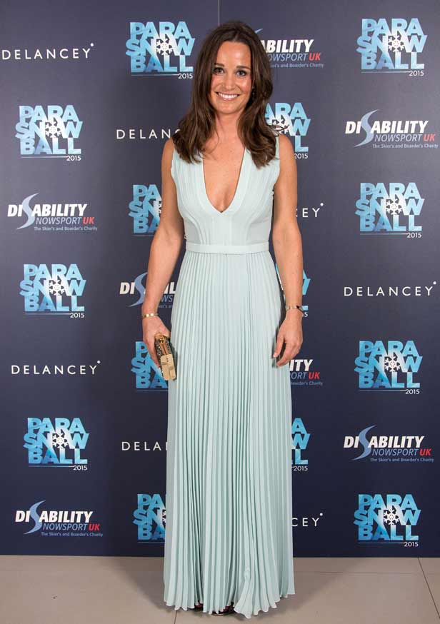 Pippa Middleton takes the plunge in low-cut gown at charity ball - BT