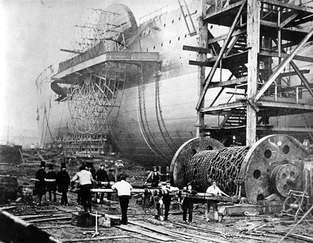 SS Great Eastern launching 1858