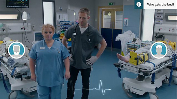 now you can be a doctor in casualty thanks to a new interactive