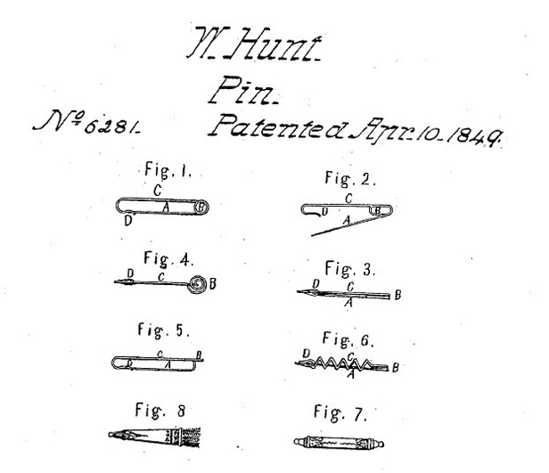 Safety pin patent
