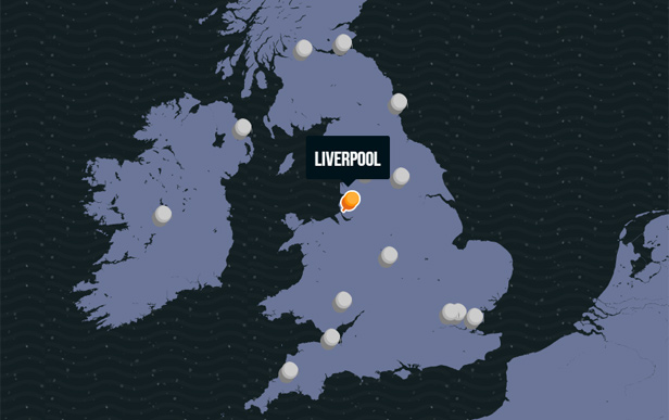 Expedia Accent Map of the UK