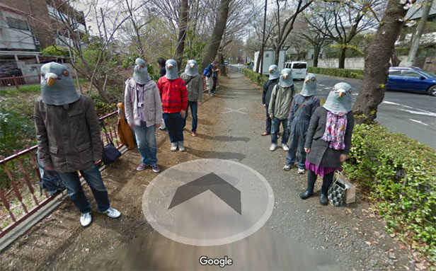 Pigeon people - Google Maps