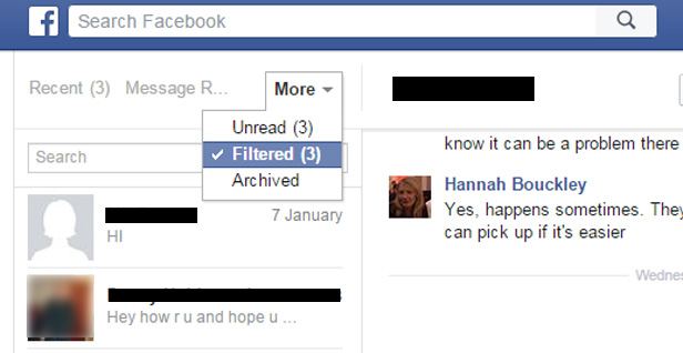 how to make facebook messages unread