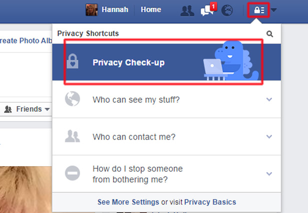 Facebook privacy screenshot