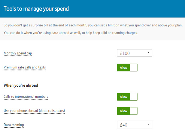 BT Mobile tools to manage your spend