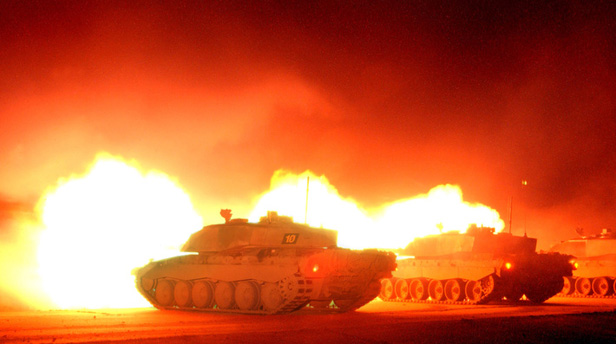 Challenger 2 tank firing. Credit BAE Systems