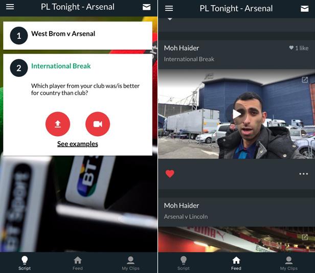Seenit app - BT Sport