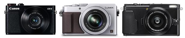 Canon G9 X, Lumix LX100, Fujifilm X70