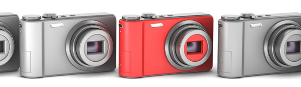 Compact cameras in row