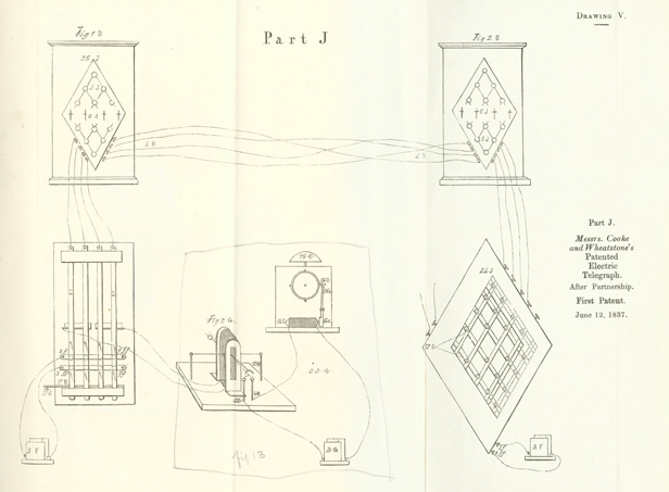 1837 Cooke and Wheatstone telegraph patent BT Archives